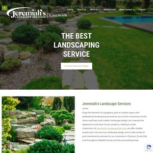 Jeremiah's Landscape Services website