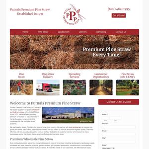 Putnals Premium Pine Straw website