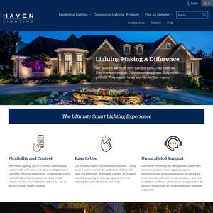 Haven Lighting website
